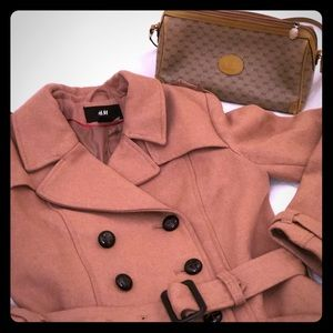 Wool double-breasted camel coat